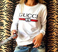 Свитшот белый Gucci logo | Премиум Бренд, фото 1
