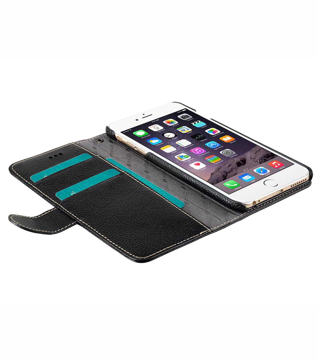 Кожаный чехол кошелек для iphone 6+ 6s plus