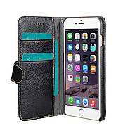 Кожаный Чехол кошелек Melkco Wallet Type для iPhone 6+/6S Plus черный