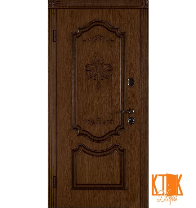 """Входная дверь в квартиру """"Престиж"""" (Дуб тёмный рустикаль + патина/Дуб тёмный рустикаль + патина)"""