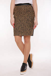 Женская юбка из твида (Tweedfup) Горчица