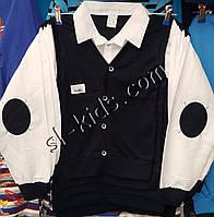 Рубашка-обманка для мальчика 6-10 лет(белая) опт (пр. Турция)