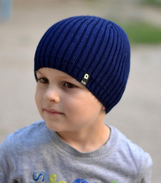 Модная шапка для подростка мальчика Цвет Джинс Размер 52-56, Джинсовый, 52-56