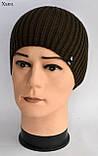 Модная шапка для подростка мальчика Цвет Джинс Размер 52-56, Джинсовый, 52-56, фото 6