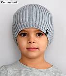 Модная шапка для подростка мальчика Цвет Джинс Размер 52-56, Джинсовый, 52-56, фото 7
