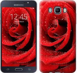 "Чехол на Samsung Galaxy J7 (2016) J710F Красная роза ""529c-263-328"""