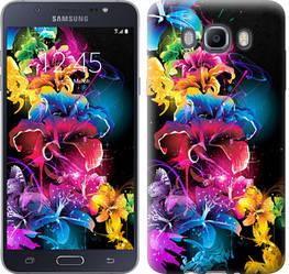 """Чехол на Samsung Galaxy J7 (2016) J710F Абстрактные цветы """"511c-263-328"""""""