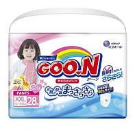 Трусики-подгузники GOO.N для девочек 13-25 кг (размер BigBig (XXL), 28 шт.) ТМ Goo.N 853085