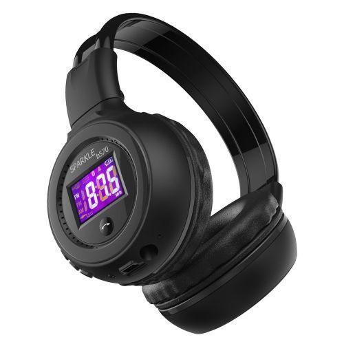 Наушники беспроводные bluetooth microSD FM MP3 Zealot B570 Black