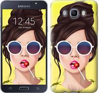 "Чехол на Samsung Galaxy J7 (2016) J710F Девушка с чупа-чупсом ""3979c-263-328"""