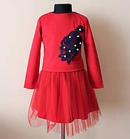 Платье костюм на девочку,кофта и платье,нарядный