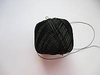 Нитки поліестер (штучний шовк) типу Ірис ( Iris )  20 грам.Чорна
