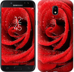 "Чехол на Samsung Galaxy J5 J530 (2017) Красная роза ""529c-795-328"""