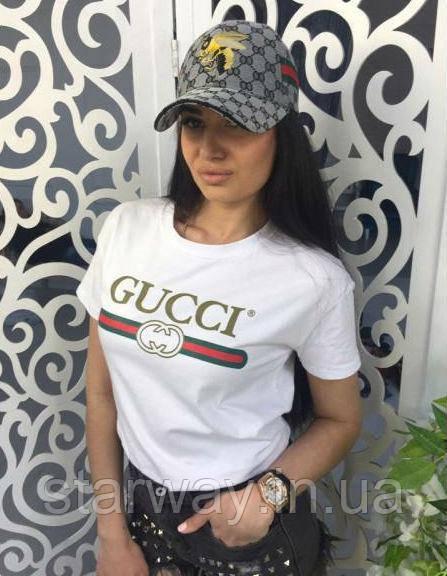 Футболка женская Gucci logo I Стильная