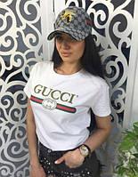 Футболка женская Gucci logo I Стильная , фото 1