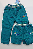 Утепленные катоновые брюки для мальчиков 2-  года
