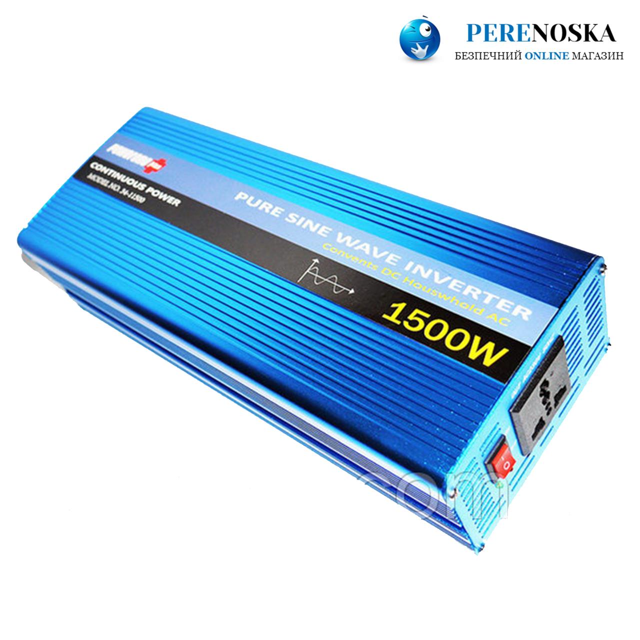 Автомобильный инвертор Powerone 1500W/ С чистой синусоидой AC/DC 12v model no 34-11500