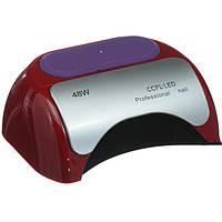 УФ LED+CCFL лампа для гель-лаков и геля 48W(красная), фото 1