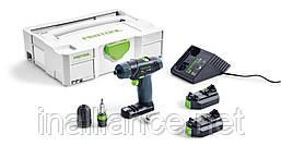 Шуруповерт аккумуляторный TXS Li 2,6 Plus, Festool 564509