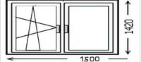 Деревянное окно 1500*1420