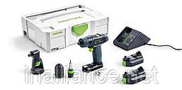 Шуруповерт аккумуляторный TXS Li 2,6 Set, Festool 564510