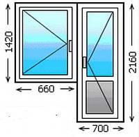Деревянное окно с балконной дверью
