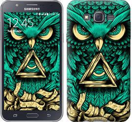 """Чехол на Samsung Galaxy J7 J700H Сова Арт-тату """"3971c-101-328"""""""