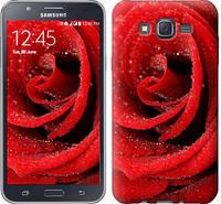 "Чехол на Samsung Galaxy J7 J700H Красная роза ""529c-101-328"""
