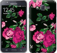 """Чехол на Samsung Galaxy J7 J700H Розы на черном фоне """"2239c-101-328"""""""