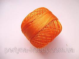 Нитки поліестер (штучний шовк)  для в'язання, вишикання типу Ірис ( Iris ) 20 грам. Оранжовий
