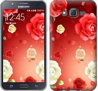 """Чехол на Samsung Galaxy J7 J700H Дождь из роз """"1873c-101-328"""""""
