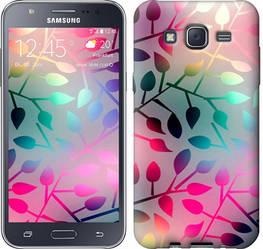 """Чехол на Samsung Galaxy J5 (2015) J500H Листья """"2235c-100-328"""""""
