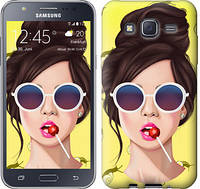 "Чехол на Samsung Galaxy J5 (2015) J500H Девушка с чупа-чупсом ""3979c-100-328"""