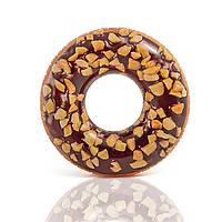 Надувной круг для плавания «Шоколадно-ореховый пончик», фото 1