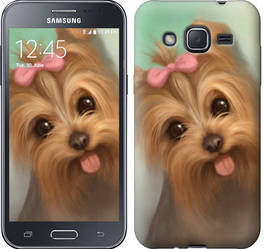 "Чехол на Samsung Galaxy J2 J200H Нарисованный йоркширский терьер ""928c-190-328"""
