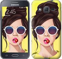 "Чехол на Samsung Galaxy J2 J200H Девушка с чупа-чупсом ""3979c-190-328"""