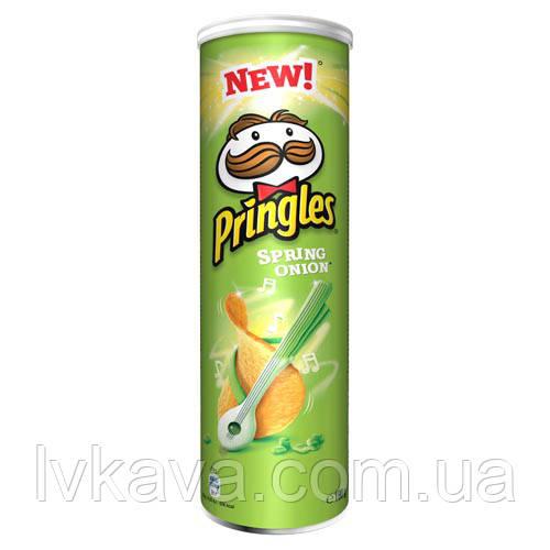 Чипсы  Pringles Spring Onion, 165 гр