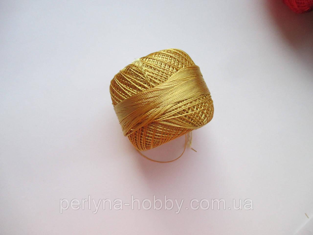 Нитки поліестер (штучний шовк) типу Ірис ( Iris )  20 грам. Золотистий
