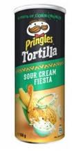 Кукурузные чипсы  Pringles Tortilla Sour Cream Fiesta, 160 гр