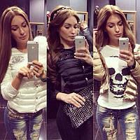 ЛК007 Женская Куртка Шанель со стразами, фото 1