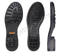 Подошва для обуви JB 2440TR, цв. чёрный с желтой вставкой