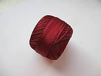 Нитки поліестер (штучний шовк) типу Ірис ( Iris )  20 грам. Бордово- терракотовий темний