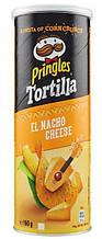 Кукурузные чипсы  Pringles Tortilla El Nacho Cheese, 160 гр
