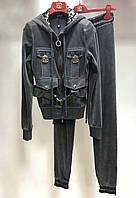 Костюм спортивный VDP серый велюровый, фото 1