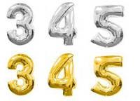 Шарики надувные фольгированные Цифры от 3 до 5 (MK 1347)
