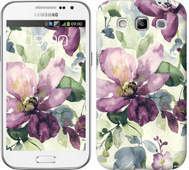 "Чехол на Samsung Galaxy Win i8552 Цветы акварелью ""2237c-51-328"""