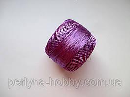 Нитки поліестер (штучний шовк)  для в'язання, вишикання типу Ірис ( Iris ) 20 грам. Бузковий темний