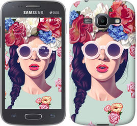 "Чехол на Samsung Galaxy Ace 3 Duos s7272 Девушка с цветами ""2812c-33-328"""
