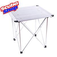 """Складной легкий алюминиевый туристический стол """"Сamping"""", размер 70*70*70 см"""