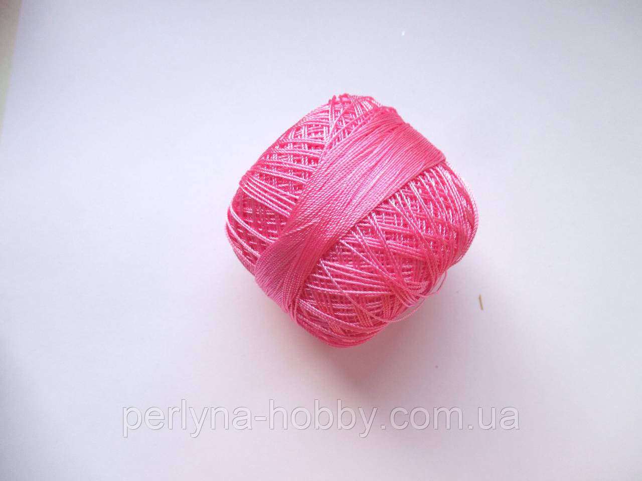 Нитки поліестер (штучний шовк) типу Ірис ( Iris )  20 грам, рожевий